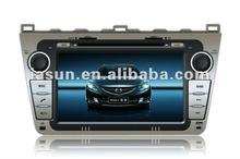 "Hot sale 8"" HD digital touch screen Car gps tracker for Mazda 6"