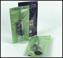 Front Transparent Standing Ziplock Aluminum Foil Bag For Eyelash Pack