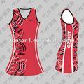 mais recente vermelho vestido netball projetos preço barato
