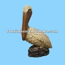 Decorative novelty resin pelican figurine