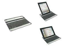 Keyboard dock aluminum alloy case for apple new ipad 2 3 rd
