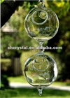 80mm (3inch) glass orb terrarium with 2 loops, blowing glass globe ball