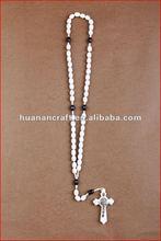 religious rosary crucifix cross statue keychain pendant wooden beads souvenir custom made photo frame