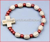 religious rosary crucifix cross statue keychain pendant wooden beads souvenir famous religious statues