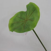 2012 new design decorative artificial water lily green lvs with high quality
