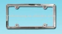 Acrylic Chrome ABS plastic License Plate Frame
