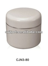pp plastic clear refillable empty cream cosmetic packaging jar bottle can container