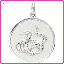 cheap snake on disc dog tag charm(H103439)