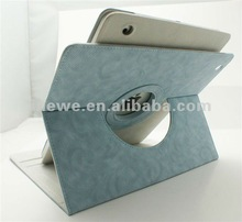 New coming high quality leather case rotating case for ipad 3 NEW ipad