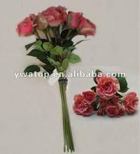 High Quality PU Artificial Flower Rose Bouquet
