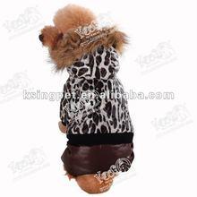 2012 Leopard winter dog coat with legs