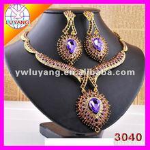 popular charm rhinestone necklace earring jewelry sets LYNE0014