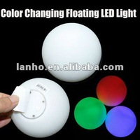 NEW Pool Decoration Water Activated Apple Ball Floating LED Color Changing Light