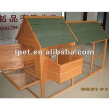 Large Outdoor 8FT Wooden Poultry House with Metal Tray and Run