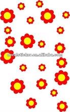 2012 Fashion Design Decorative Crystal Flowers Vinyl Wall Sticker