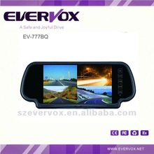 7 inch tft rearview car mirror lcd monitor for reversing with quad images