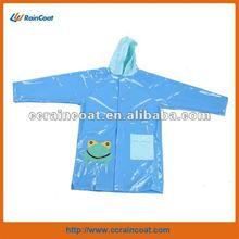 New design children's pvc waterproof jacket