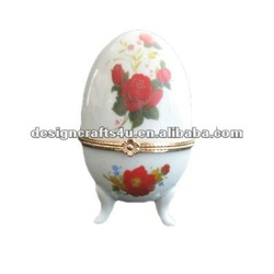 polyresin decorative egg jewelry case