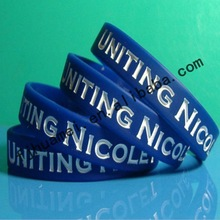 2012 promotion debossed ink filled silicone wristband