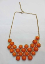 Red coral necklace designs bib bubble beads