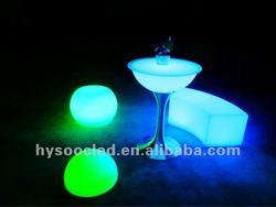 illuminated led bar table
