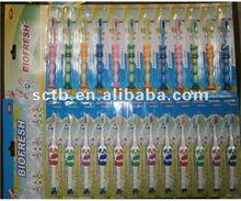 paper hanging toothbrush
