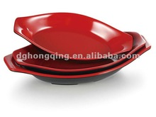 Melamine Two-tone Black&Red plate,butter/paste