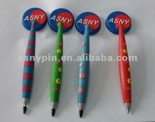 pvc hanging ballpoint pen with company logo
