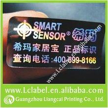 Elegant tamper evident label and number stickers hologram