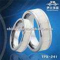 Branca de osso de boi anéis do tungstênio, tungstênio anéis de casal