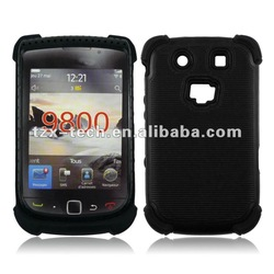 cellphone case pc and silicone case for blackberry 9800