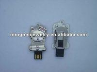 Rhinestone computer accessories 128gb usb flash drive
