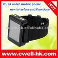 k1 Quad Band HD dokunmatik ekran el saat cep telefonu