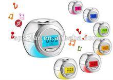 SK1063 desktop natural sound chime digital alarm clock with colorful backlight