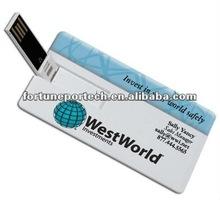 USB flash memory stick Business card 8GB