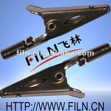 50mm nickel plating single handle battery clip 9v