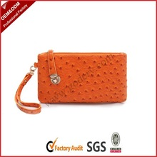 Ostrich PU leather wallet for women