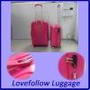 2012 ABS+PC 3 pcs set 20/28/28 eminent travel trolley TSA lock airplane match color spinner rotative latest bag