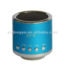 Portable mini stereo speaker with fm radio usb host tf card slot