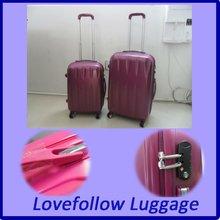 2012 ABS+PC 3 pcs set 20/28/28 eminent travel trolley TSA lock airplane match color travelmate kids fashion case