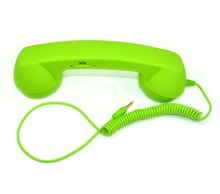 2012 new brand ruber plastic anti-radiation pop retro handset with volume button