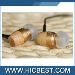 Wooden earphone handset speaker mp3 cell phone