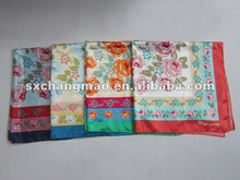 2012 fashion foulard with flora and plants printing for Japan market