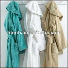 Cotton Terry And Velour Men's Bathrobe Hooded