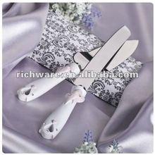 nice accessory champagne glass cake knife wedding serve set craft
