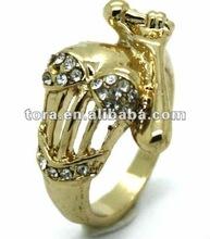 Fashion Gold Diva Ring gold rings design for women latest design diamond ring