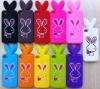 Newest design silicone holder horn speaker amplifier rabbit ear design case for IPhone 4s
