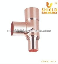 Reducing Copper Tee Air Conditioner Copper Pipe Fittings