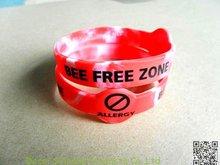 Power Wristband BEE FREE ZONE logo Bracelet Cheap popular wrist bands