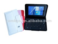 7 inch Bluetooth Wireless Keyboard Foldable Leather Case for Samsung Galaxy P6210/P6200
